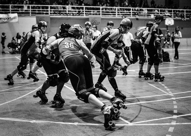 Patinadoras bot Roller Derby Ingles de Acero Cultura underground
